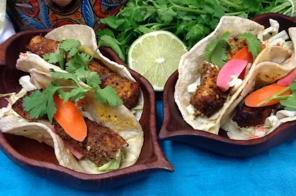 Yucatan Rojo Fish Tacos