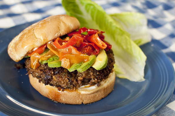 Chipotle Chili Powder Black Bean Burger
