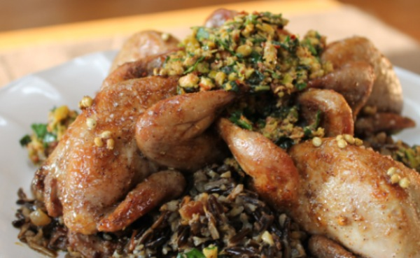 Honey Roasted Quail