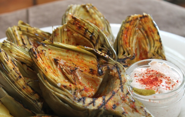 Grilled Artichokes with Rooster Spice