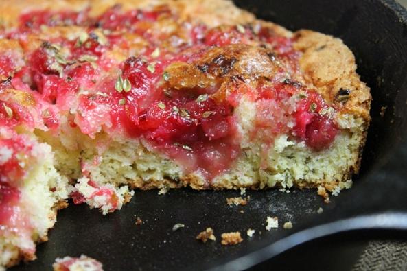 Lemon Thyme Rhubarb Cake