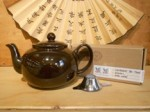 Brown Betty, Black Tea, and Tea Strainer