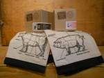 Primal Pork and Beef Towels and Corresponding giftsets