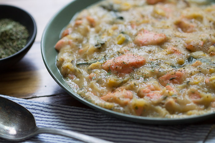Fodmap salmon chowder lighter
