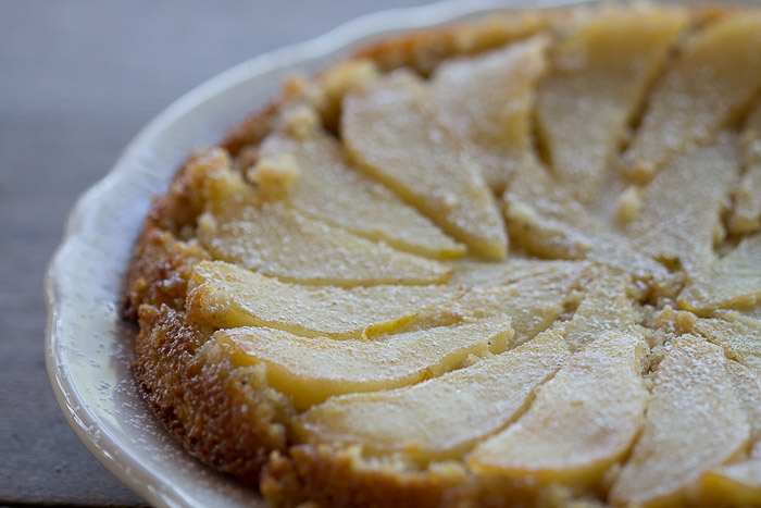Cardamom Pear Upside Down Cake