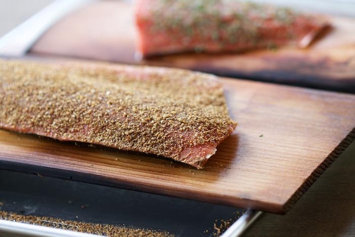 Salmon rub uncooked