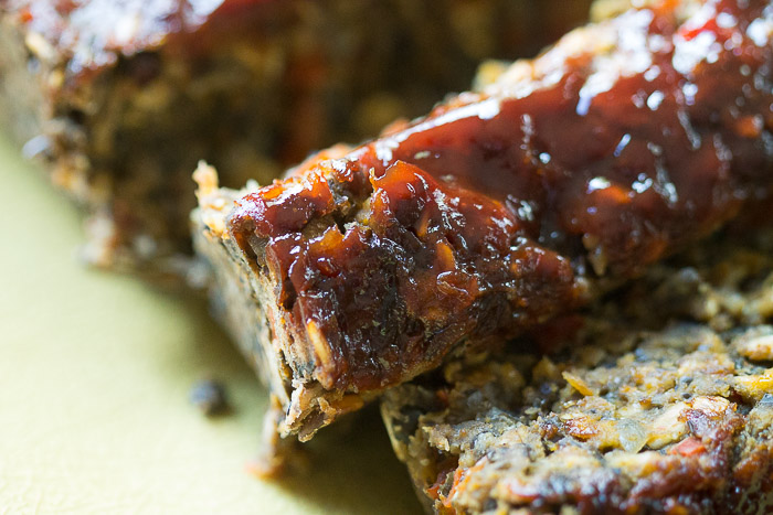 Lentil Loaf with Awesome Sauce