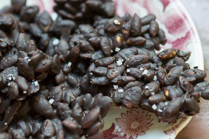 Mayan cocoa pumpkin bark