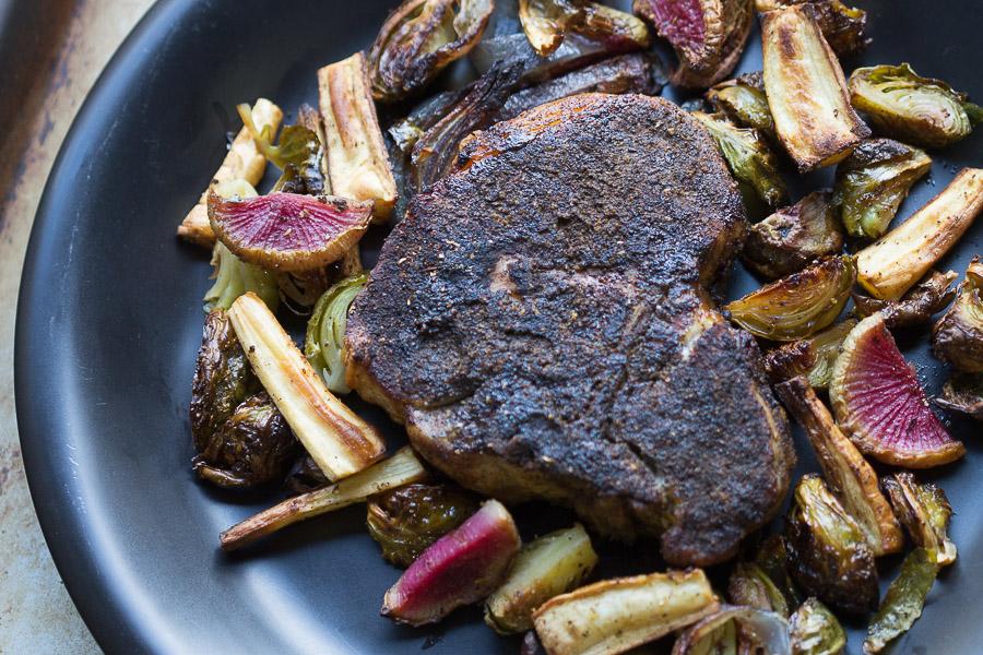 Asian tea Rubbed Pork Chops