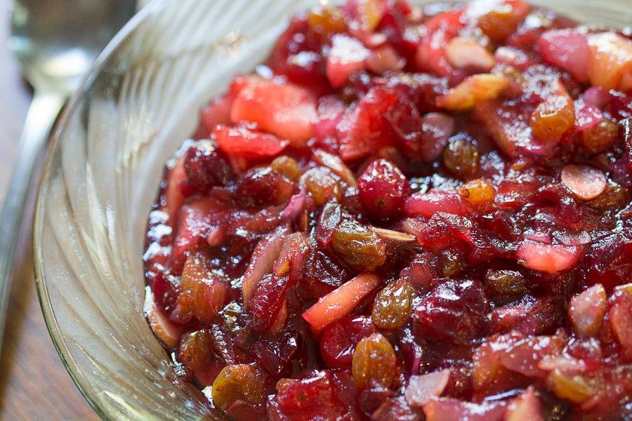 Alisons cranberry chutney