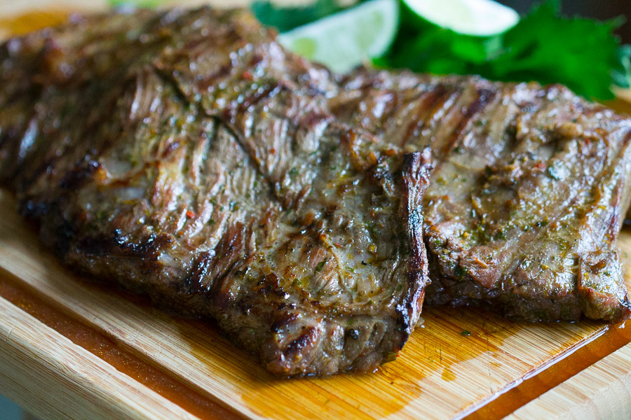 Chimichurri skirt steak bright