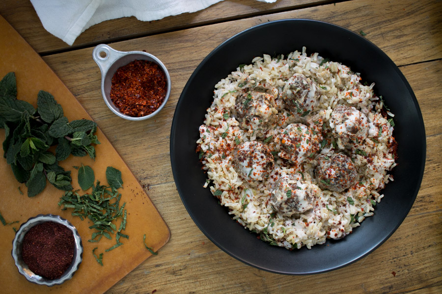 Kofte Spiced Lamb Meatballs with Yogurt Sauce