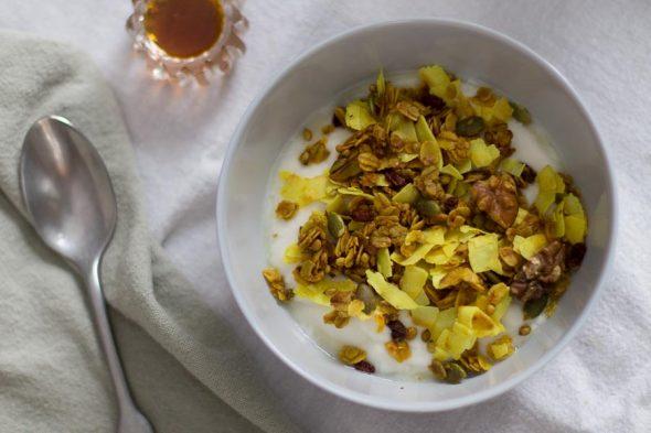 Golden Turmeric Granola with Barberries