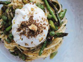 Dukkah Spring Spaghetti