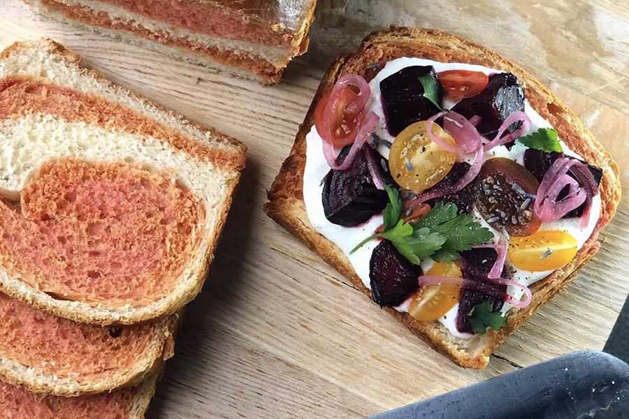 Lavender Ricotta Toast