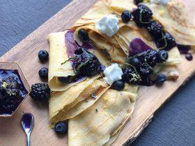 Lavender Dulce de Leche Crepes