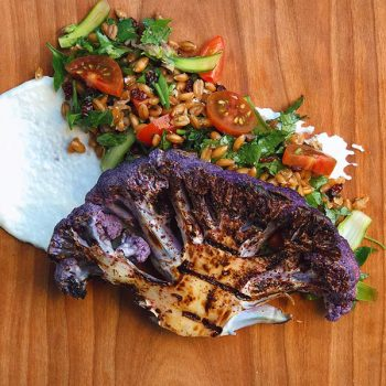 Sumac Cauliflower Steak with El Greco Spelt Salad