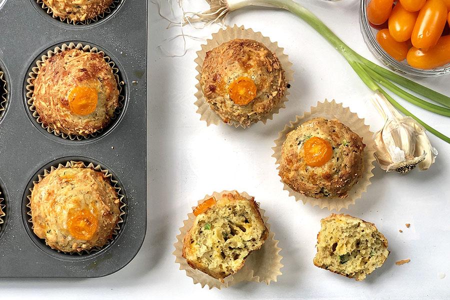 El Greco Zucchini Cheddar Muffins