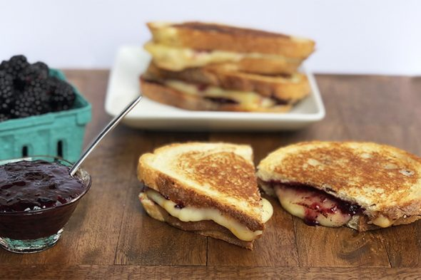 Black Berry Poultry Rub Jam Grilled Cheese