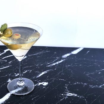 Spruce Tip and Black Pepper Dirty Martini